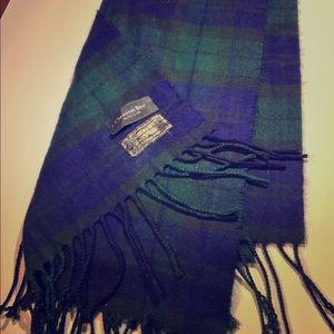 Blue & Green Christian Dior Cashmere Scarf